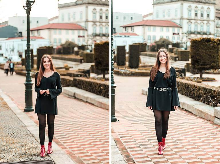 boho outfit red vinil boots