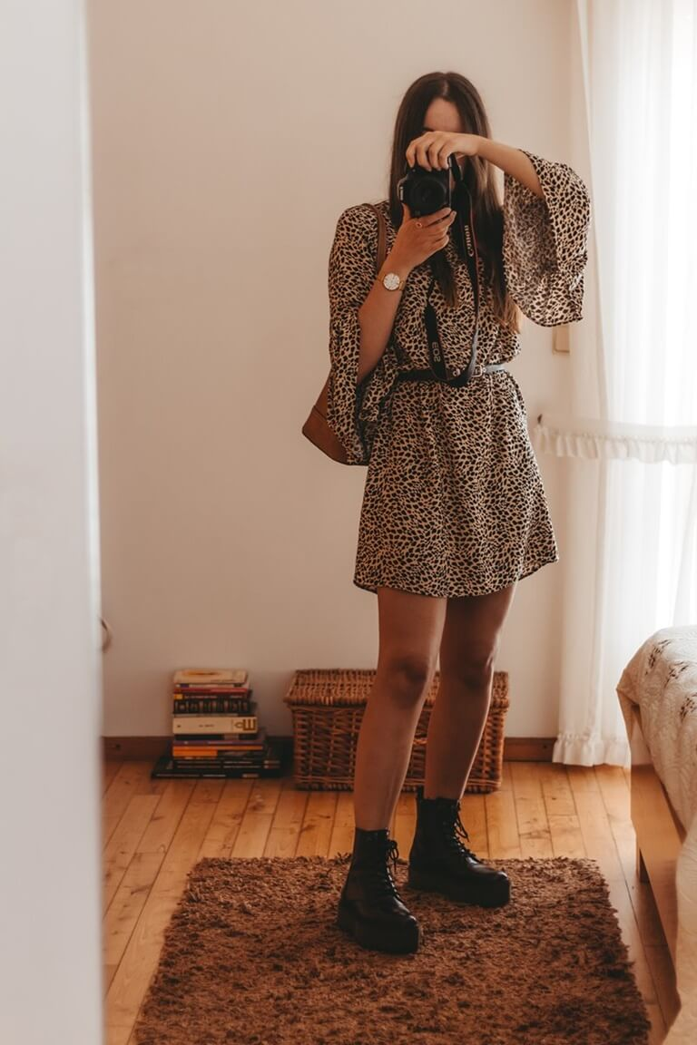 chunky boots outfit ideas