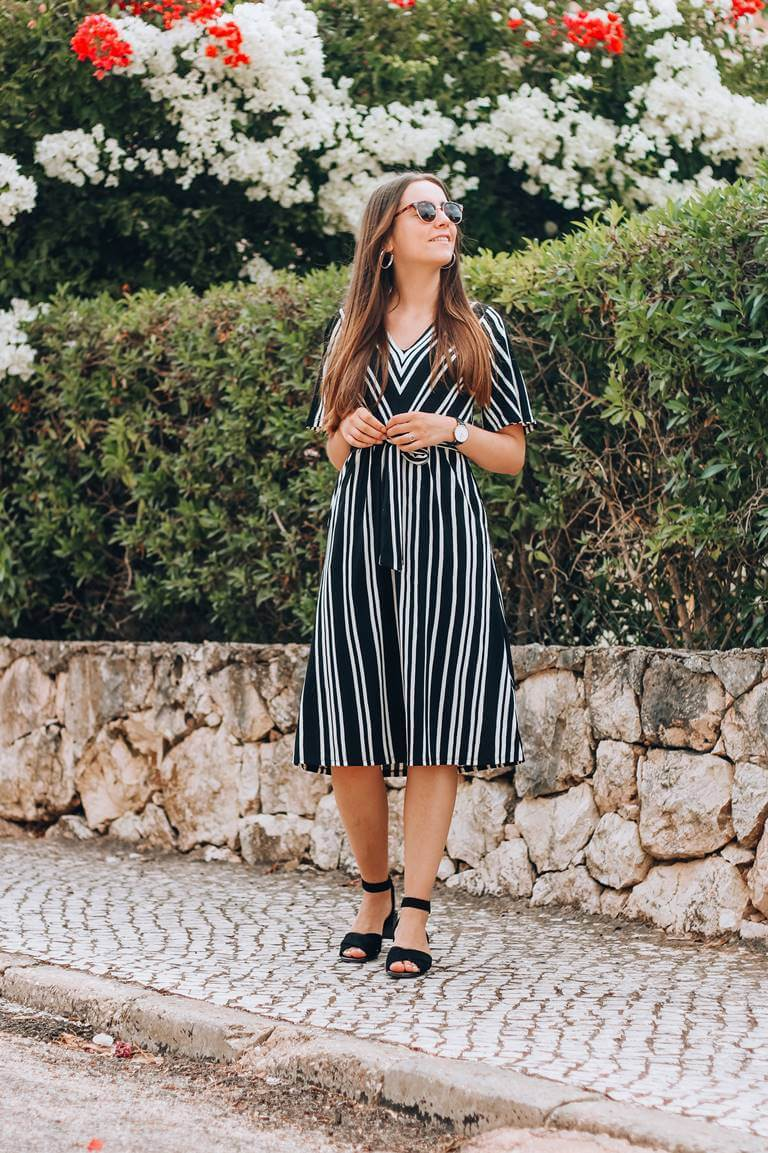 striped dress sandals rockport
